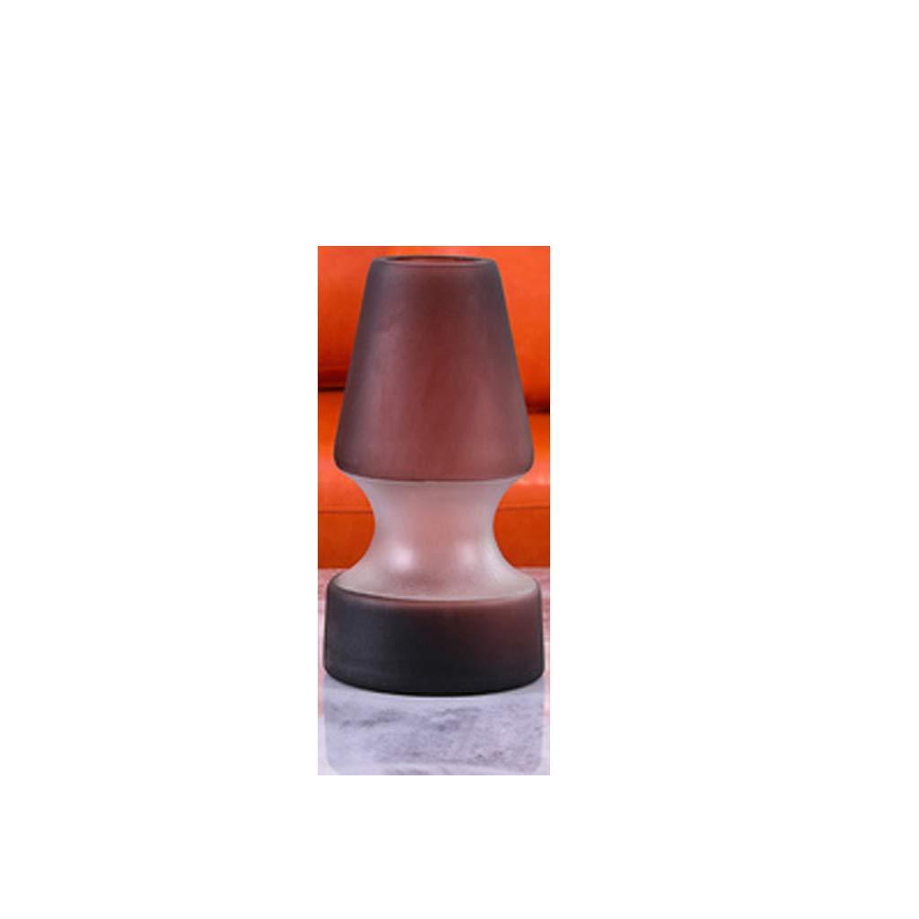 ガラス花瓶の装飾/居間の水耕植物容器/ハンドメイドのマットタッチ SHWSM (Size : 14cm×27cm) B07SR7DB6X  14cm×27cm