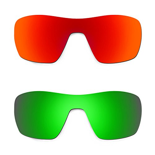70fb2d9659f Envio gratis Hkuco Plus Mens Replacement Lenses For Oakley Offshoot  Red Emerald Green Sunglasses