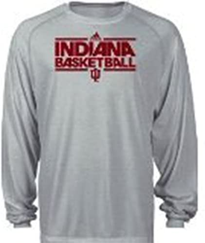 Indiana Hoosiers Adidas Youth長袖バスケットボールシャツClimalite