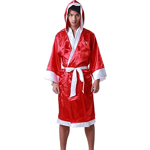 Wesing Boxing Robe with Hood Boxing Robe for Men and Women Boxing Robe Satin]()