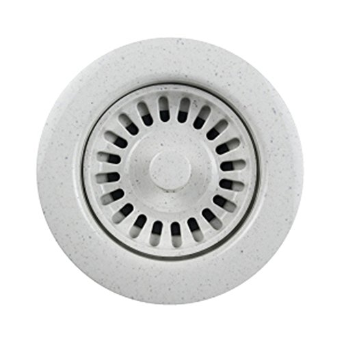 (Houzer 190-9566 Speckled Granite Disposal Flange for 3.5-Inch Drain Openings, White)