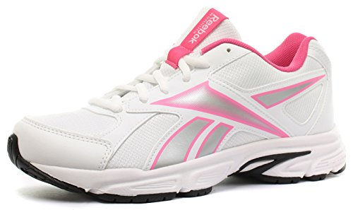 Reebok Tranz Runner RS Femme / Enfant Chaussures courses à pied, blanc-Rose, 35