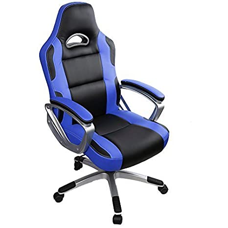 Gaming Chair, íntimo WM corazón Racing Estilo Ejecutivo de deportes de piel sintética sillón giratorio de espalda alta, ergonómico silla de oficina mesa ...