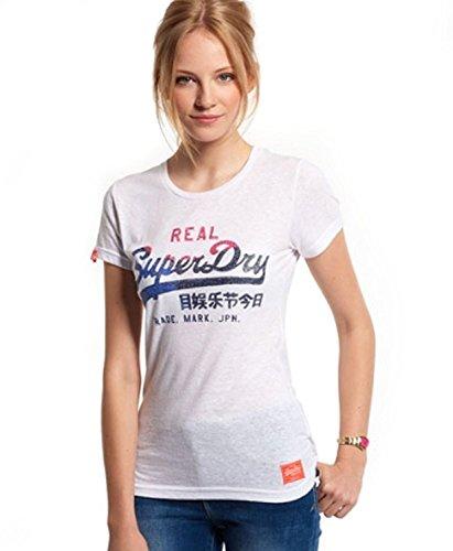 Superdry Damen T-Shirt weiß Optic Medium