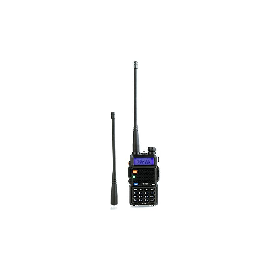 BTECH UV 5X3 5 Watt Tri Band Radio VHF, 1.25M, UHF, Amateur (Ham), Includes Dual Band Antenna, 220 Antenna, Earpiece, Charger, and More
