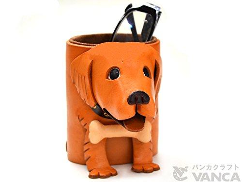 Golden retriever Genuiine Leather Animal/Dog Eyeglasses Holder/StandVANCA Handmade in Japan by Vanca.com