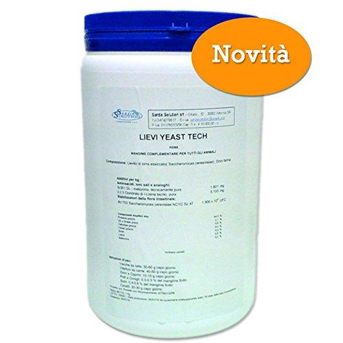 LIEVI YEAST TECH 1 Kg - Lievito di birra attivo naturale per animali. Sarda Solution