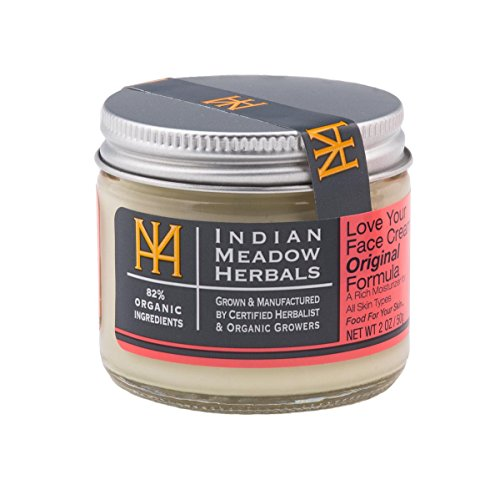 Indian Meadow Herbals, Cream Love Your Face, 2 Ounce (The Best Moisturizer For Your Face)