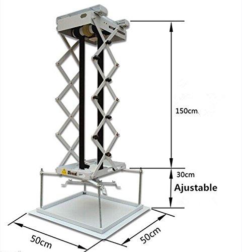 MXBAOHENG 1,5 m proyector Soporte motorizado Mando a Distancia ...