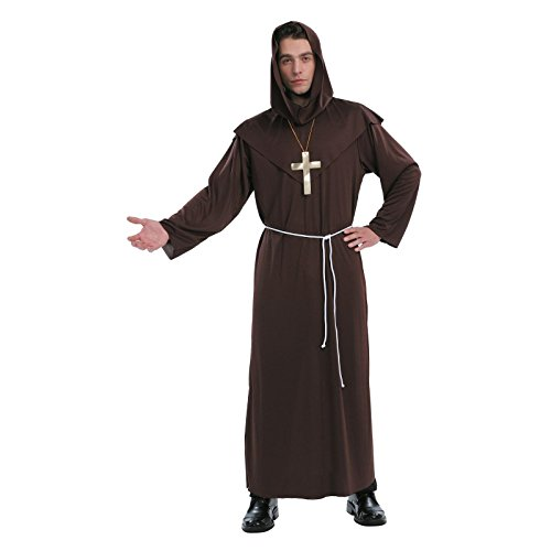 Totally Ghoul Monk Costume, One Size Fits Most -