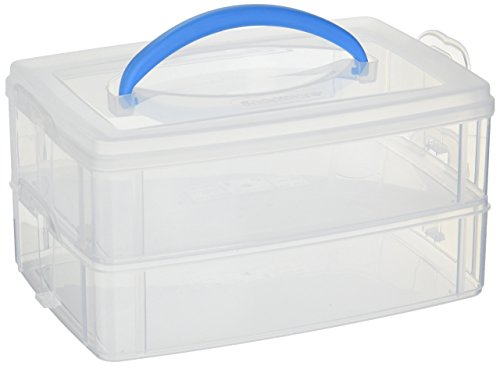 Snapware 1098834 Snap N Stack 2-Layer (6.9 9.7-Inches) Storage Container, 6.9 x 9.7, Clear
