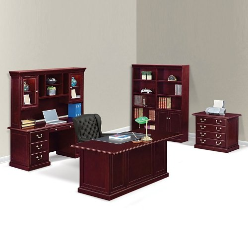 Cherry Wood Executive Desk Suite - NBF Signature Series Cumberland Collection by NBF Signature Series