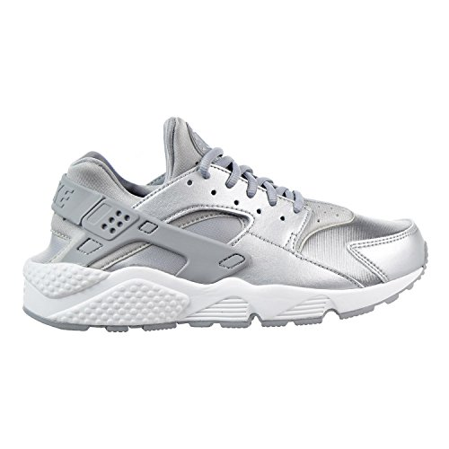 NIKE Women's Huarache Run SE Running Shoe Metallic Silver/Pure Platinum/Summit White