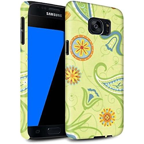 STUFF4 Matte Tough Shock Proof Phone Case for Samsung Galaxy S7/G930 / Green/Orange Design / Springtime Collection Sales