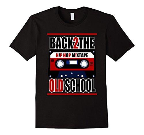 Mens BACK 2 THE OLD SCHOOL T-SHIRT HIP HOP MIXTAPE 2XL - 80s Hip Fashion Men Hop