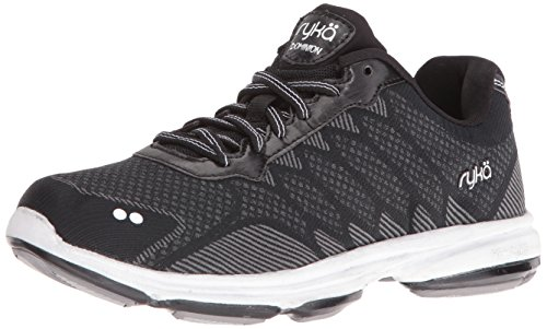 Ryka Women's Dominion Walking Shoe, Black/White, 11 M US