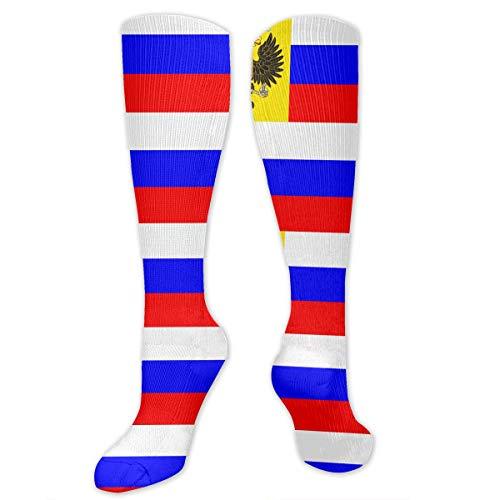 Tuooluo Russian Flag Compression Socks,Knee High Socks,Funny Socks Women Men - Best Medical,Sports,Running, Nurses,Maternity,Pregnancy,Travel & Flight Socks (Best Russian Soccer Team)