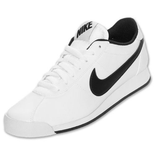 NIKE MARQUEE LEATHER CASUAL SHOES WHITE BLACK GUM MEDIUM BROWN 580537 120