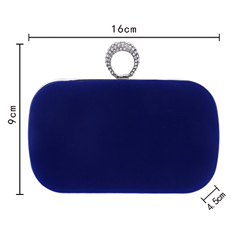 à 9cm Sac à Bandouliere Soirée size rose Main Mariage Wicemoon 4 Pochette Bleu 5 Main Bal 16 Chaine Sac fIqRx