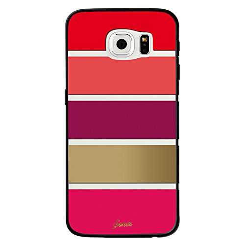 low priced 3a117 87281 Sonix Case for Samsung Galaxy S6 - Retail Packaging - Fuchsia Stripe