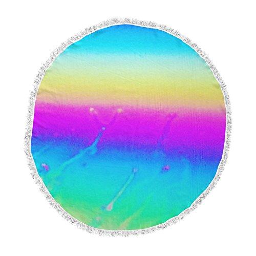 KESS InHouse Liz Perez Indigo Soul Pastel Multicolor Digital Round Beach Towel Blanket ()