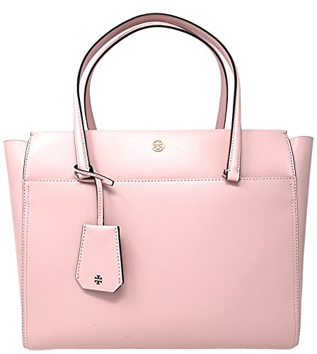 Tory Burch Parker Leather Tote Pink Quart/Cardamom - Pink Tory Burch