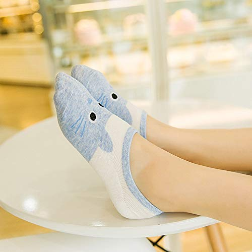 Amazon.com: DeemoShop Cute Kawaii Print cat Harajuku Socks Women Girl Summer Cotton Korean Funny Animal Happy Candy Color Low Cut Ankle Sock sokken: Kitchen ...
