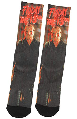 Friday The 13th Jason Blood Trail Sublimated Crew Socks 1 Pair