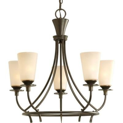 - Progress Lighting Cantata Collection Forged Bronze 5-Light Chandelier