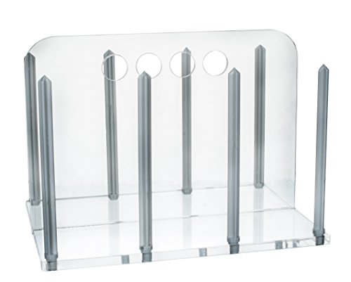 Petri Dish Rack for 90mm Hold up to 60 Dishes - Clear Acrylic