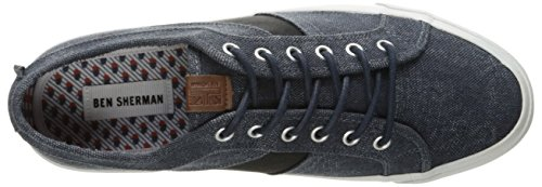 Ben Sherman Mens Jayme Fashion Sneaker Blu Scuro