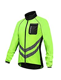 kesoto Outdoor Sports Men Women Waterproof Cycling Jacket Long Sleeve Bike Coat Quick Dry Wind Rain Coat Outwear - Reflective & Quick Dry