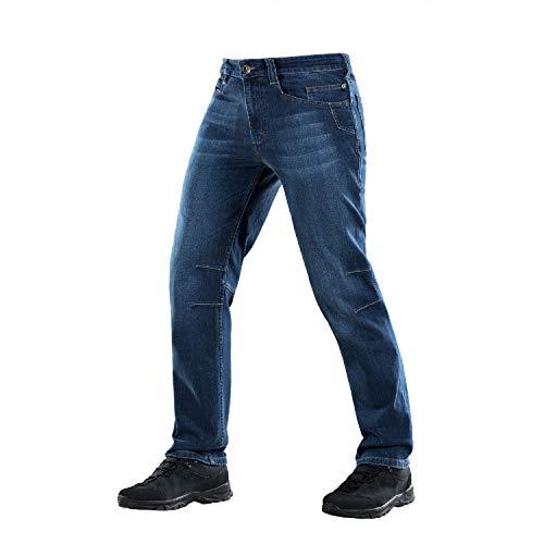 - M-Tac Jean-s Pants - Regular Fit - Tactical Denim - Dark Wash - Gunner (Dark Blue, W38 / L34)