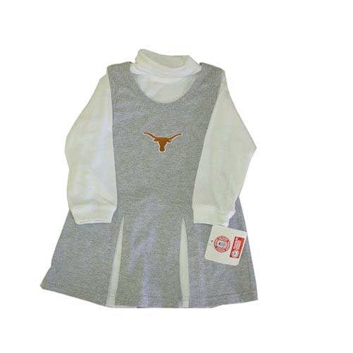 Mighty Mac Texas Longhorns NCAA Toddler Grey Cheerleader Halloween Costume size 2T