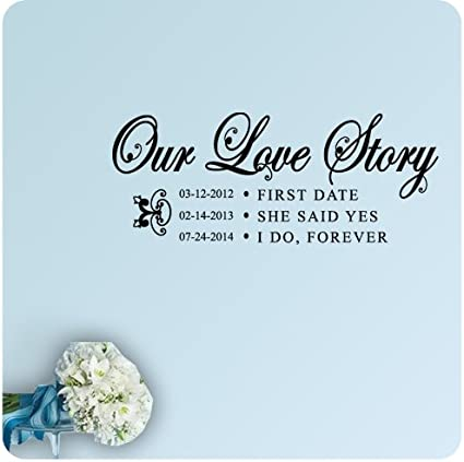 com personalized wedding date engagement our love