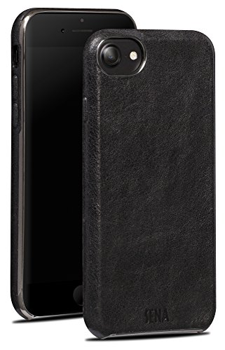 - Sena Ultra Thin Snap On Premium Thin Leather Wrapped Case iPhone 6/7/8, Black