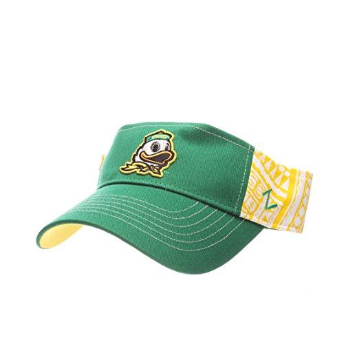 Zephyr NCAA Oregon Ducks Adult Men's Hanauma Visor, Adjustable Size, Team -