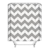Shower Curtains for Polyester Fabric Gray Geometry Pattern for Bathroom Waterproof/Easy Care (2)