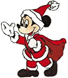 Disney Character Christmas Santa Mickey Mouse Embroidered Iron On Movie Patch DS-357