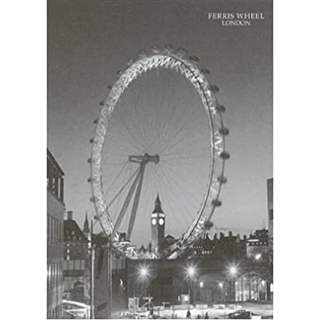 buyartforless ferris wheel london 24x32 art print poster vintage