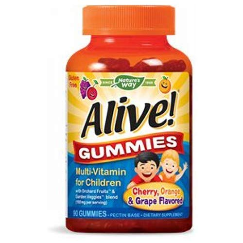Alive! Children's Multi-Vitamin Gummies (Assorted Flavors) - 90 Count by Nature