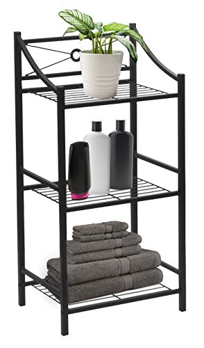 3 Tier Storage Tower - Sorbus Bathroom Storage Shelf, 3-Tier Freestanding Toilet Storage Shelves — Display Bath Essentials, Planters, Books