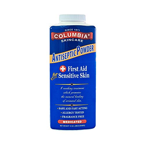 Columbia Skincare Medicated Antiseptic Powder for Sensitive Skin, 14 oz