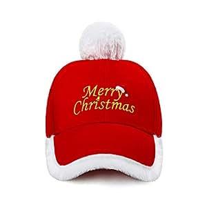 Amazon.com  Christmas Hat Fashionable Red and White Festive Santa ... 893edbfa0891