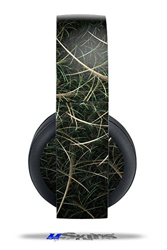 Vinyl Decal Skin Wrap compatible with Original Sony PlayStation 4 Gold Wireless Headphones Grass (PS4 HEADPHONES NOT INCLUDED)
