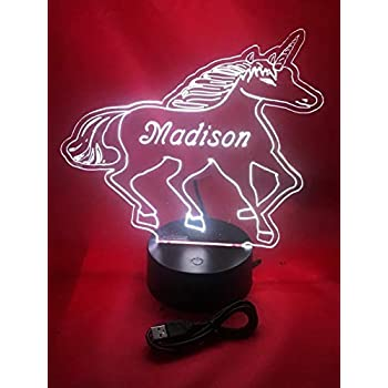 Amazon.com: Nombre con luz lámpara LED con mando a distancia ...