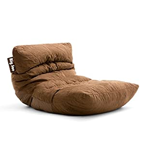 Big Joe Roma Bean Bag Chair, Comfort Suede Plus, Chocolate
