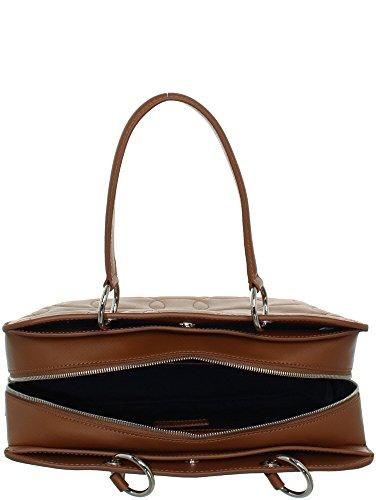 Bag Sac Boston cuir ref Medium main Lacoste cem40128 en 859 Lacoste à shopping marron Hpd0wqq
