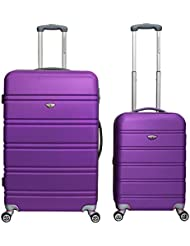 American Green Travel Tsa Lock 2-Piece Hardside Spinner Luggage Set, Purple