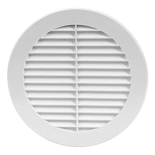 Round Soffit Vent - Air Vent Louver - Grille Cover - Built-in Fly Screen Mesh - HVAC Ventilation (6